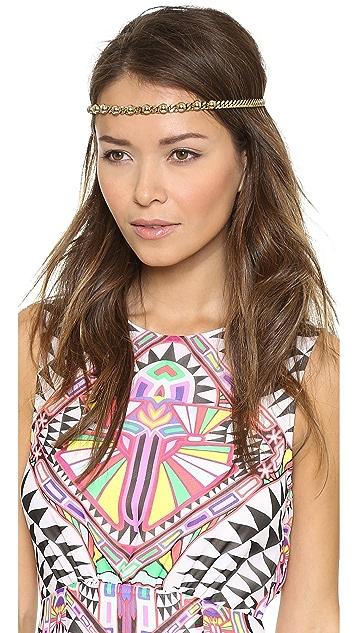 LELET NY Sandra Stud & Chain Headwrap