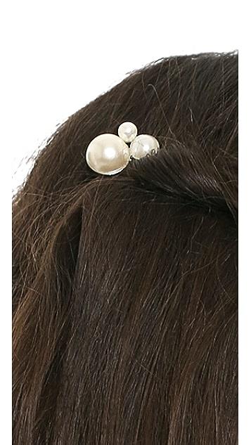 LELET NY Allison Imitation Pearl Petite Comb