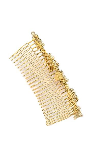 LELET NY Mindy Glass Pearl Comb