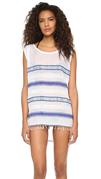 Lemlem Addis Sleeveless Cover Up Dress In Blue