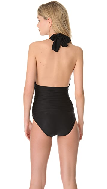 Lenny Niemeyer Basic Touch Ruched Maillot