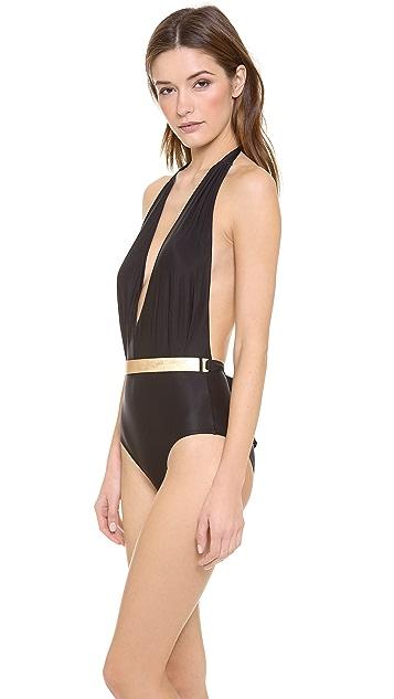 Lenny Niemeyer Belted One Piece Swimsuit