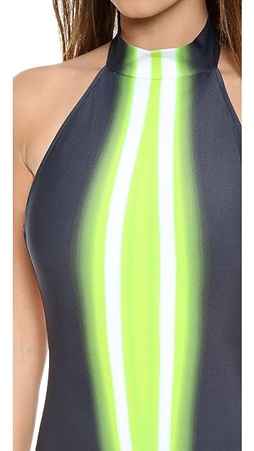 Lenny Niemeyer Green Light Beam One Piece Swimsuit