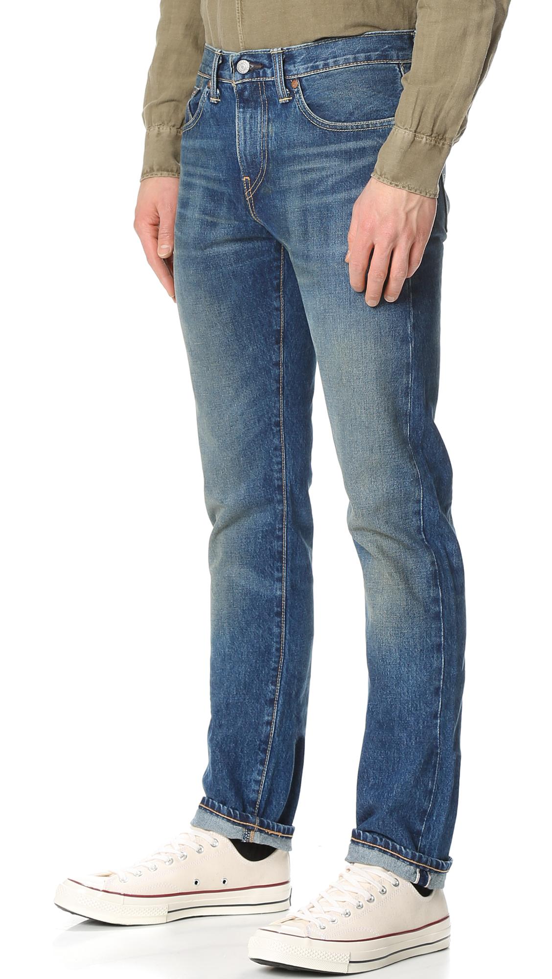 Dane Red Slim Levi's Selvedge 511 Tab Fit JeansEast iOkXPZuT