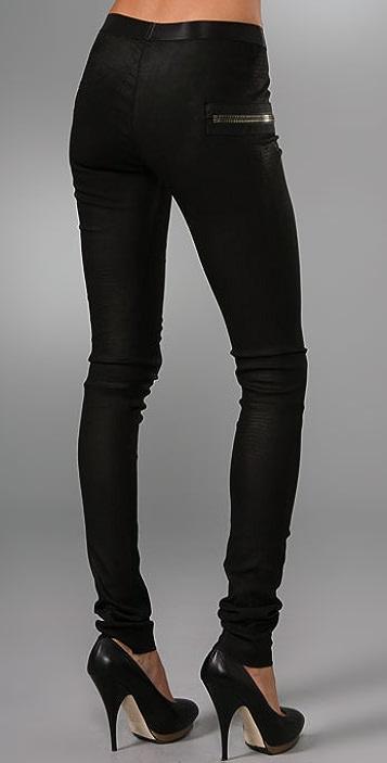 Les Chiffoniers Zip Pocket Lagato Leather Leggings