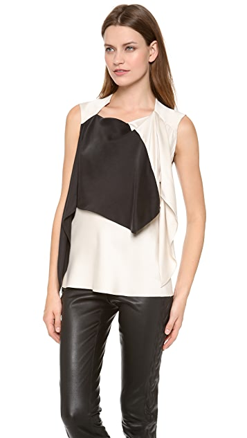 Les Chiffoniers Bandana Top with Contrast Silk