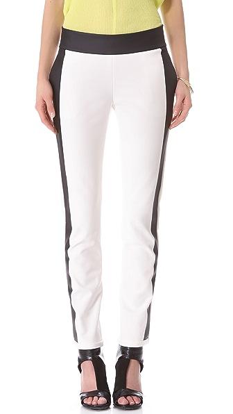Les Chiffoniers Rubberized Stripe Pants