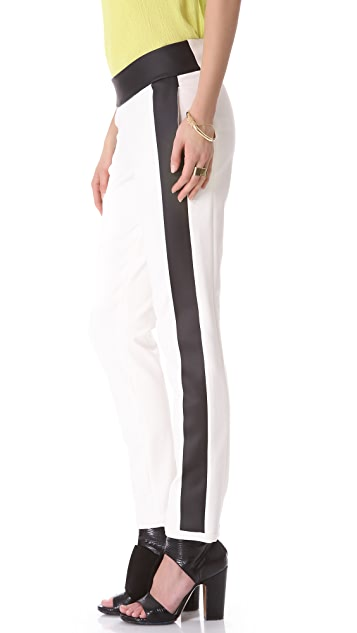 Les Chiffoniers Rubberized Stripe Pants