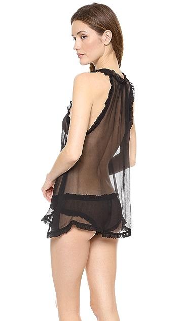 Les Coquines Coco Silk Babydoll & Ruffle Panties