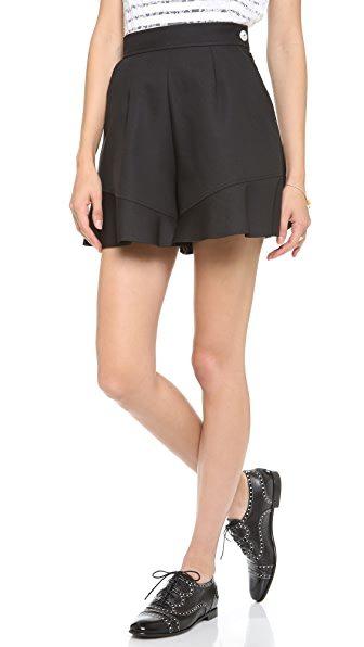 Leur Logette Rhinestone Button Shorts