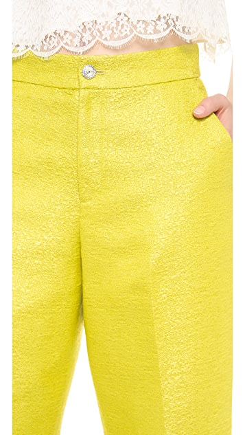 Leur Logette Tweed Cropped Pants