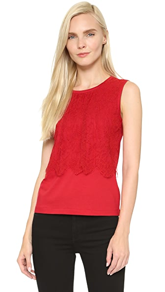 Leur Logette Sleeveless Lace Top