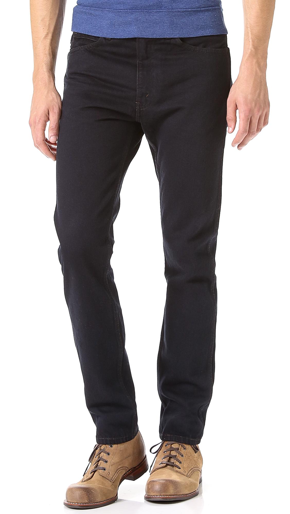Levi's Black Overdye 1960s 606 Jeans | EAST DANE