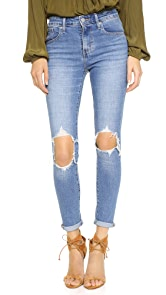 Levis 721 High Rise Distressed Skinny Jeans
