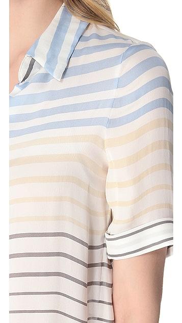 L'AGENCE Short Sleeve Blouse