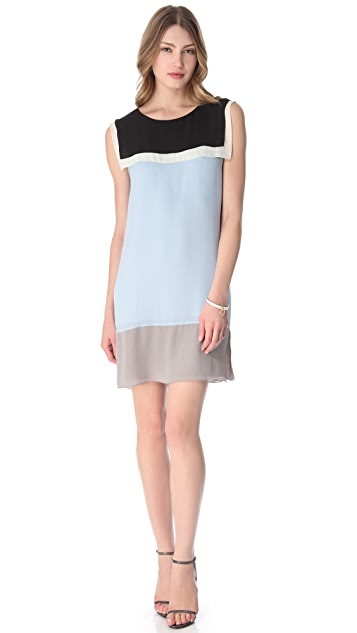 L'AGENCE Colorblock Sailor Dress