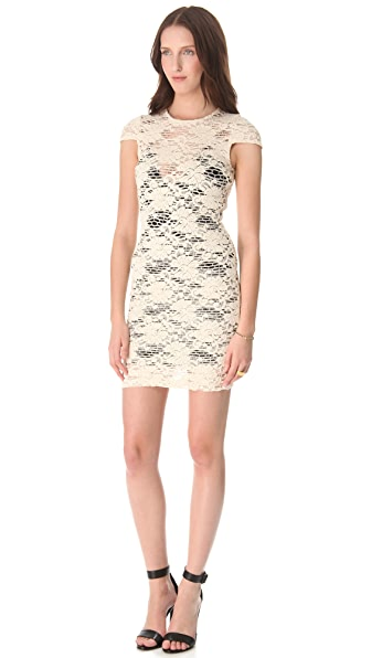L'AGENCE Cap Sleeve Dress