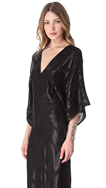L'AGENCE Sequin Kimono Dress