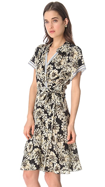 L'AGENCE Short Sleeve Wrap Dress