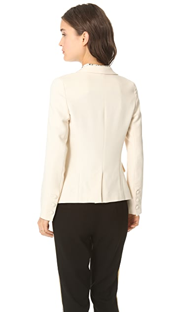L'AGENCE Notch Collar Blazer