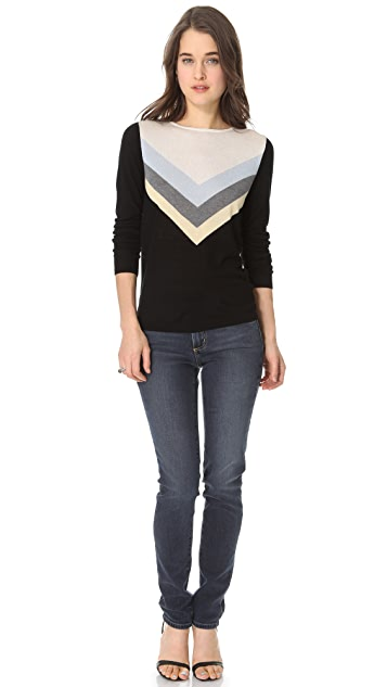 L'AGENCE Long Sleeve Blend Top