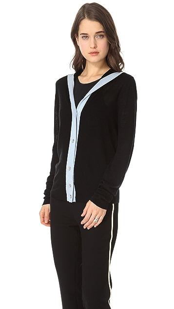 L'AGENCE Long Sleeve Sailor Cardigan