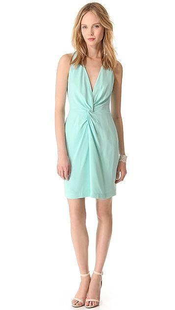 L'AGENCE Twist Front Dress