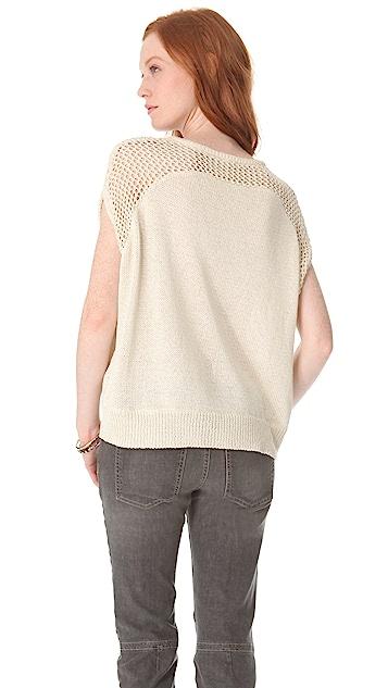L'AGENCE Drop Shoulder Pullover