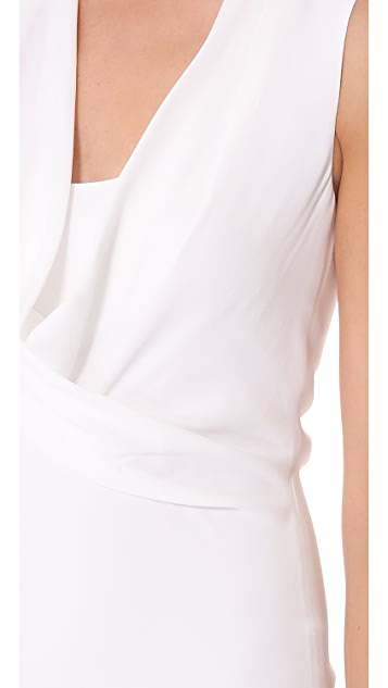 L'AGENCE Sleeveless Cowl Neck Dress