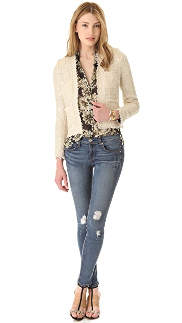 L'AGENCE Short Frayed Jacket