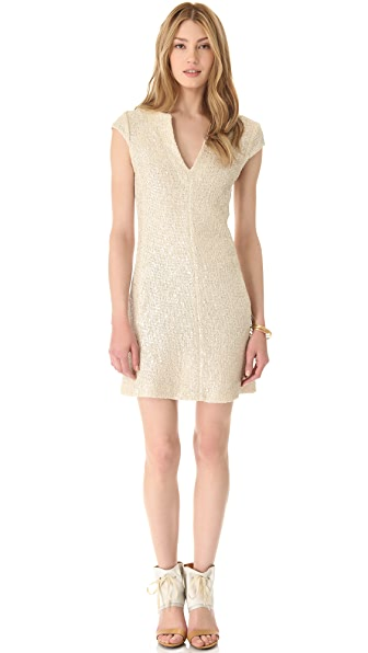 L'AGENCE Cap Sleeve Shift Dress