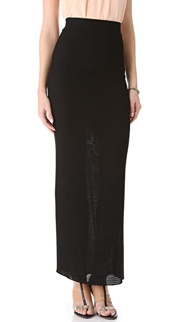 L'AGENCE Long Skirt with Back Detail