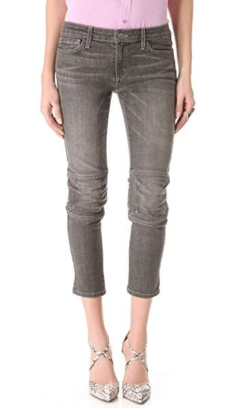 L'AGENCE Cropped Moto Jeans