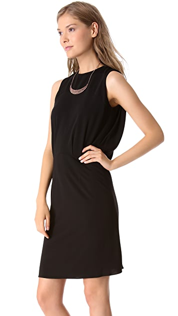 L'AGENCE Draped Back Dress