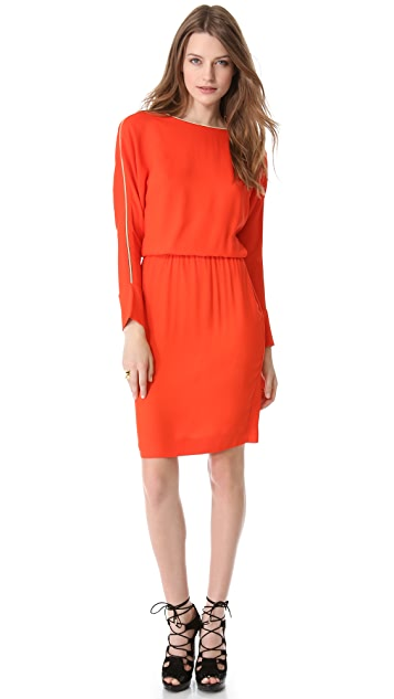 L'AGENCE Dolman Zip Shoulder Dress