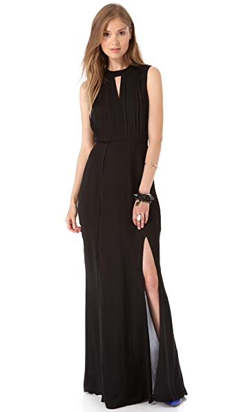 L'AGENCE Double Keyhole Gown