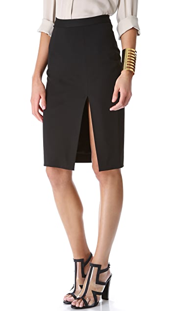 L'AGENCE High Slit Skirt