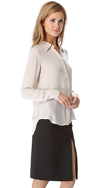 L'AGENCE Button Down Blouse