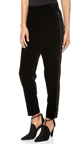 L'AGENCE Tuxedo Boxer Pants