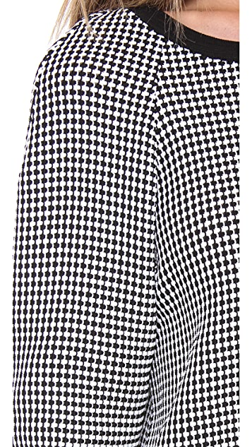 L'AGENCE Basket Weave Pullover