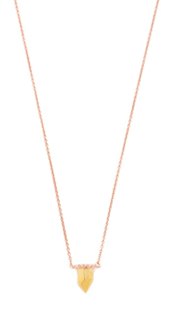 L'AGENCE Pointed Pendant Necklace