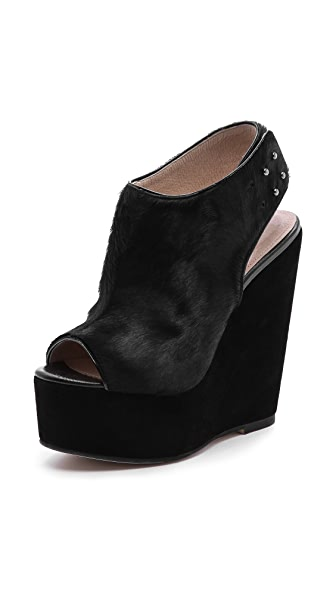 L'AGENCE Slingback Haircalf Wedges