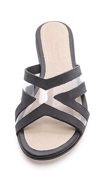 L'AGENCE JJ Slide Sandals