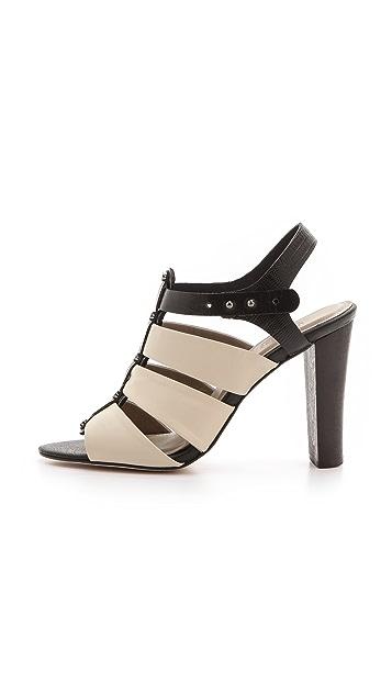 L'AGENCE Marike T-Strap Sandals