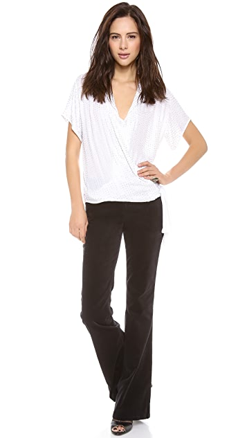 L'AGENCE Beaded Wrap Top