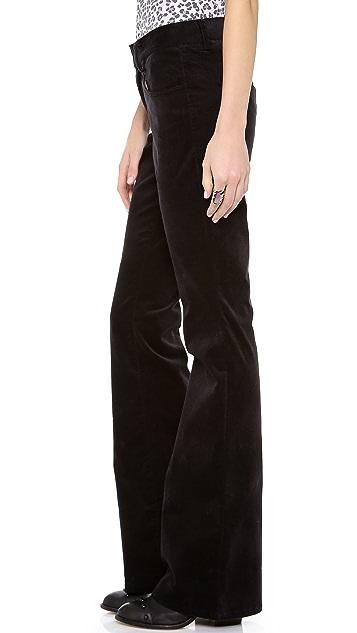 L'AGENCE Velvet Wide Leg Trousers