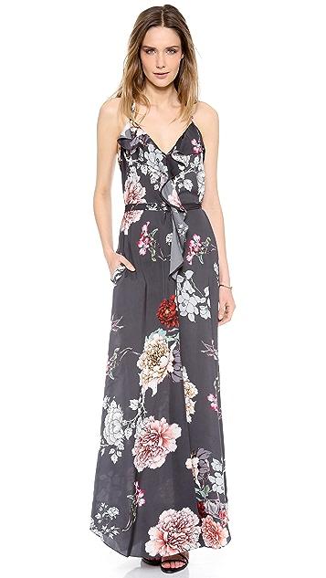 L'AGENCE Ruffle Front Dress