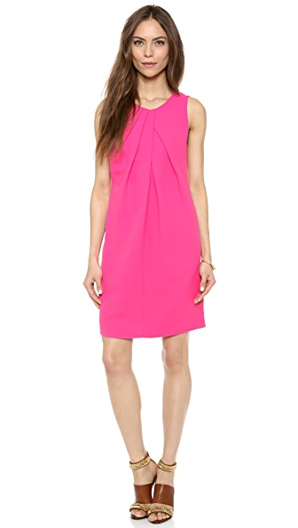 L'AGENCE Drape Front Sleeveless Dress