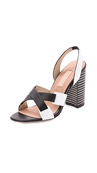 L'AGENCE Contrast Sandals