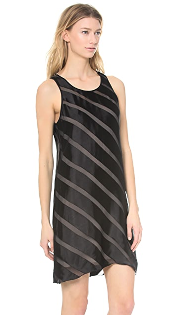 L'AGENCE Sleeveless Dress with Slip